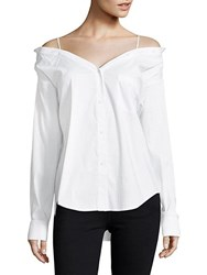 Bailey 44 Stoked Cold Shoulder Shirt White