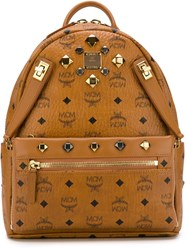 Mcm 'Dual Stark' Backpack Brown