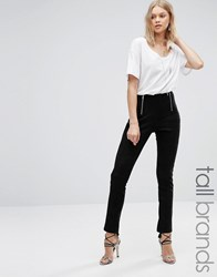 Glamorous Tall Skinny Trouser With Zip Front Detail Black