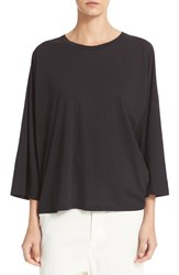 Vince Women's Full Raglan Sleeve Cotton And Cashmere Tee