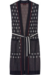 Rag And Bone Isabella Fairisle Stretch Knit Cardigan