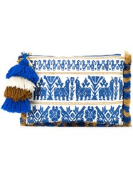 Figue Maia Clutch Blue
