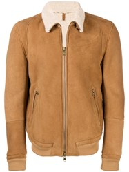 Mauro Grifoni Shearling Lined Jacket Brown