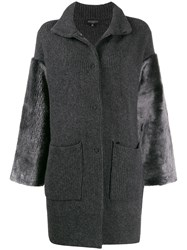 Antonelli Knitted Cardi Coat Grey