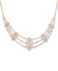 Wrapped In Love Diamond Pave Marquise Cluster 17 Statement Necklace 2 Ct. T.W. Created For Macy's Yellow Gold