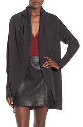 Leith Women's Shawl Collar Cocoon Cardigan Charcoal Heather