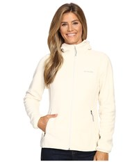 Columbia Fuller Ridge Hooded Fleece Jacket Chalk Women's Coat White