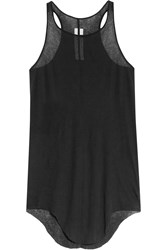 Rick Owens Semi Sheer Slub Cotton Tank Black