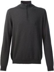 Pringle Of Scotland Zip Collar Jumper Grey