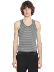 Haider Ackermann Striped Wool And Acrylic Tank Top Black
