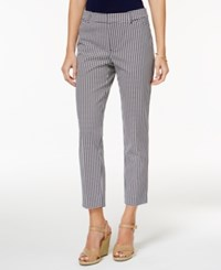 Charter Club Petite Newport Printed Cropped Pants Only At Macy's Intrepid Blue