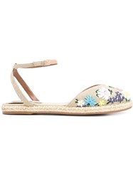 Tabitha Simmons 'Dotty Meadow' Espadrilles Nude And Neutrals