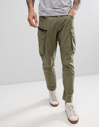 Replay Engineered Cargo Pants Dark Olive Green