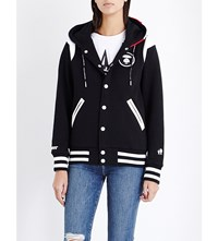 Aape By A Bathing Ape Star Print Jersey Hoody Black