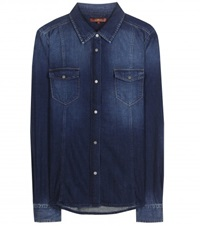 7 For All Mankind Slim Denim Shirt Blue