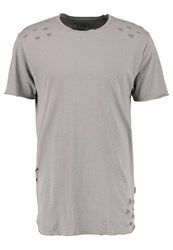 Only And Sons Onsdistressed Print Tshirt Brushed Nickel Dark Grey