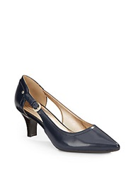 Circa Joan And David Clarity Leather Point Toe Pumps Navy