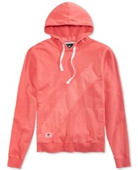 Lrg Men's Ill De Fined Pieced Embroidered Logo Cotton Hoodie Peach