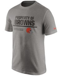 Nike Men's Cleveland Browns Property Of T Shirt Heather Gray