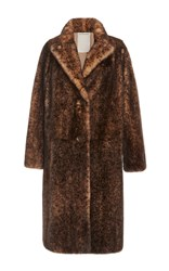 Color Temperature Long Mink Coat With Shawl Collar Nude