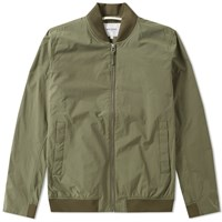 Norse Projects Ryan Crisp Cotton Jacket Green