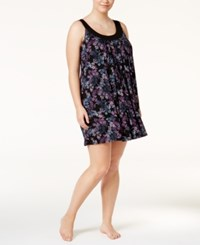 Alfani Plus Size U Neck Printed Chemise Only At Macy's Stamped Floral