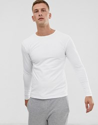 Soul Star Long Sleeve Top In Muscle Fit In White
