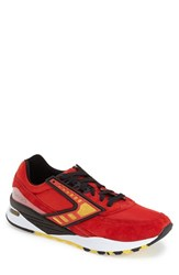 Brooks Men's 'Regent' Sneaker High Risk Red Yellow Black