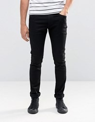 Replay Jondrill Skinny Jeans Stretch Clean Black Rinse Black