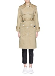 Comme Moi Cotton Twill Belted Trench Coat Brown