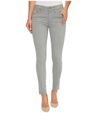 Calvin Klein Jeans Garment Dyed Ankle Skinny Pants In Monument Monument Women's Gray