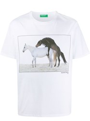 United Colors Of Benetton Horse Print T Shirt 60