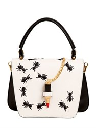 Giancarlo Petriglia Mini Queen Embroidered Ants Leather Bag