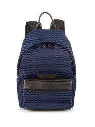Mcq By Alexander Mcqueen Leather Trim Mesh Backpack Navy