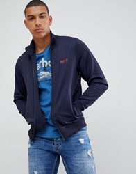 Barbour International Essential Track Jacket In Navy