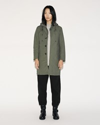 Fwk Engineered Garments Chester Coat Olive Cotton Double Cloth