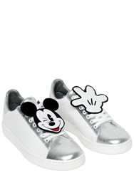 Moa Master Of Arts Mickey Mouse Patches Leather Sneakers