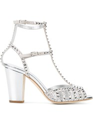 Giuseppe Zanotti Design Studded Caged Sandals Metallic