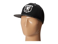 Stacy Adams Ball Cap With Griffin Patch And Snake Print Bill Black Caps