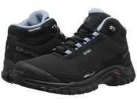 Salomon Shelter Cs Wp Black Black Stone Blue Women's Shoes