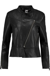 Iris And Ink Agatha Leather Biker Jacket Black