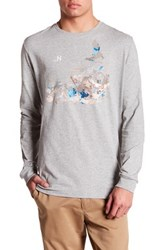 Nautica Long Sleeve Satellite Tee Gray