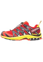 Salomon Xa Pro 3D Trail Running Shoes Fiery Red Sulphur Spring Black