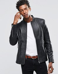 Religion Kea Leather Jacket Black