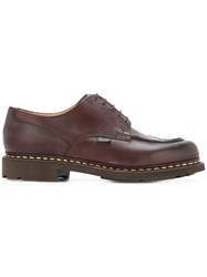 Paraboot Chunky Sole Derby Shoes Leather Rubber 8.5 Brown