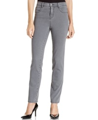Style And Co. Petite Slim Fit Tummy Control Jeans Gray Wash Whisper Grey