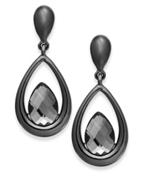 Alfani Hematite Tone Faceted Stone Teardrop Earrings