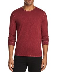 7 For All Mankind Slub Long Sleeve Tee 100 Exclusive Port Red