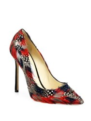 Jimmy Choo Romy Feather Point Toe Pumps Bordeaux