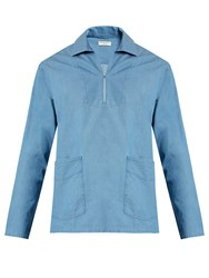 Editions M.R Sailor Cutaway Cotton Shirt Blue